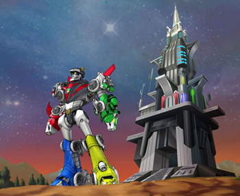 Voltron & the Castle of Lions from Voltron Force